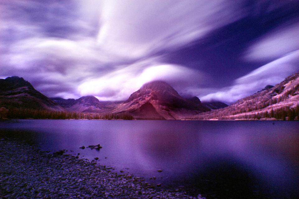 Infra red image at Glacier National Park. 3min exposure.