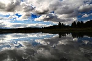 Lake on the Grand Teton National Park.