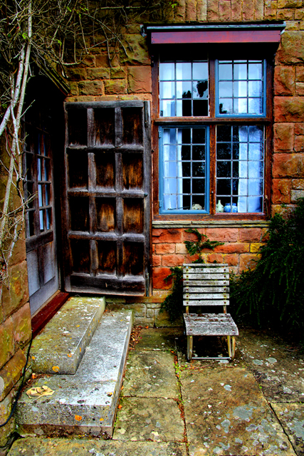 Quiet corner of a country house.