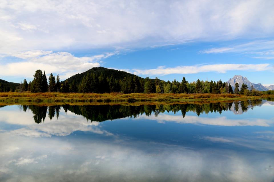 Reflections across the lake.