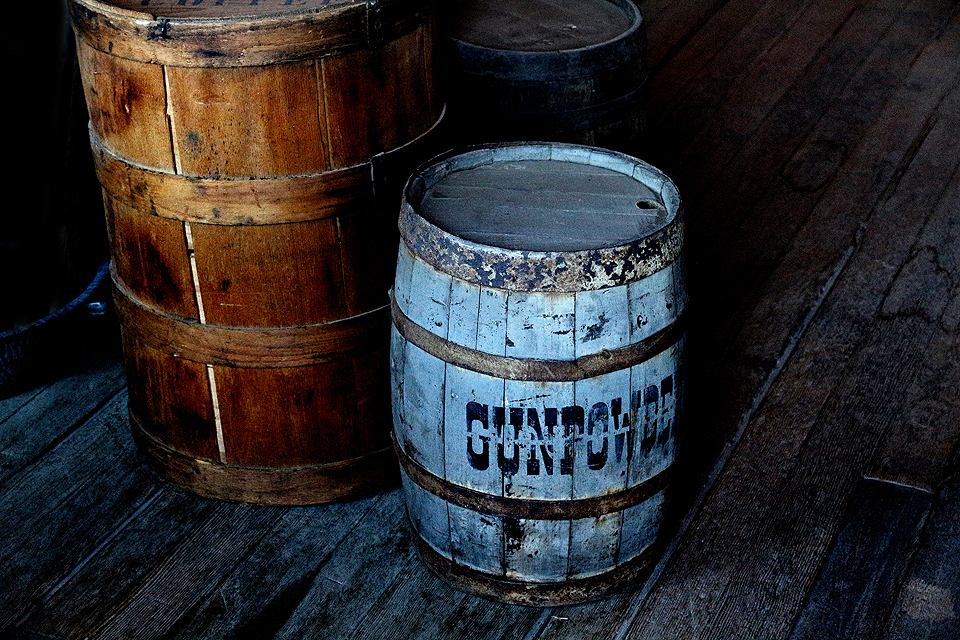 Gunpowder barrel in General Store.