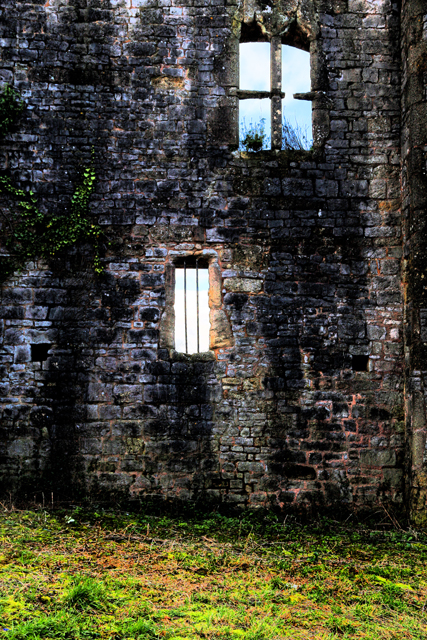 Caldicot Castle, colours and contrasts.