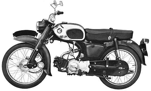Honda C200 without pedals.
