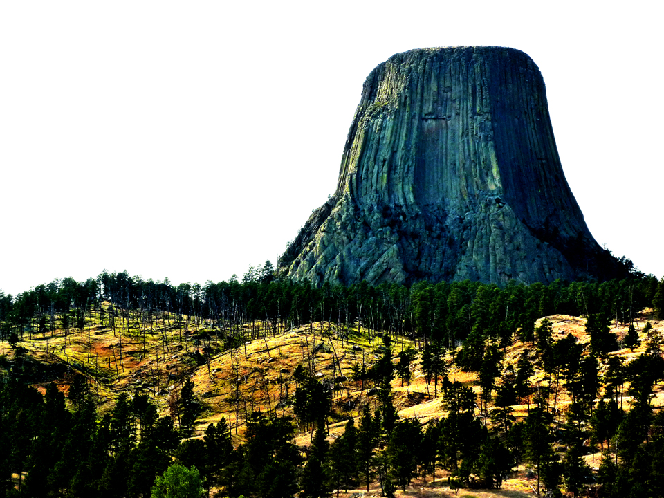 Devils Tower and not an alien to be seen.