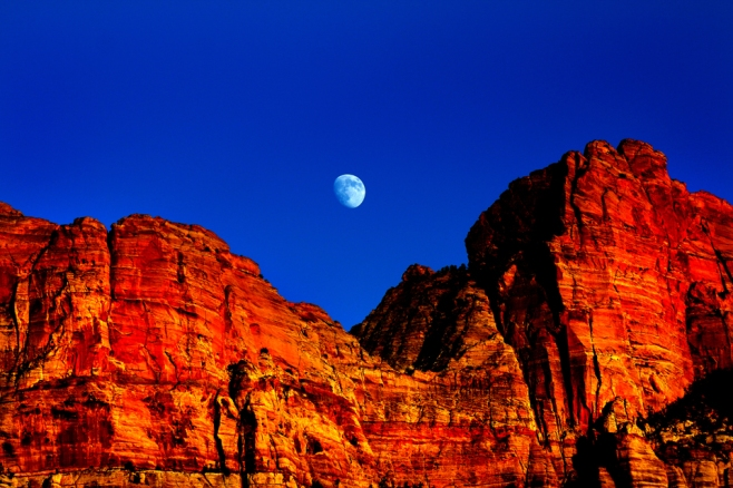 The Moon and Zion